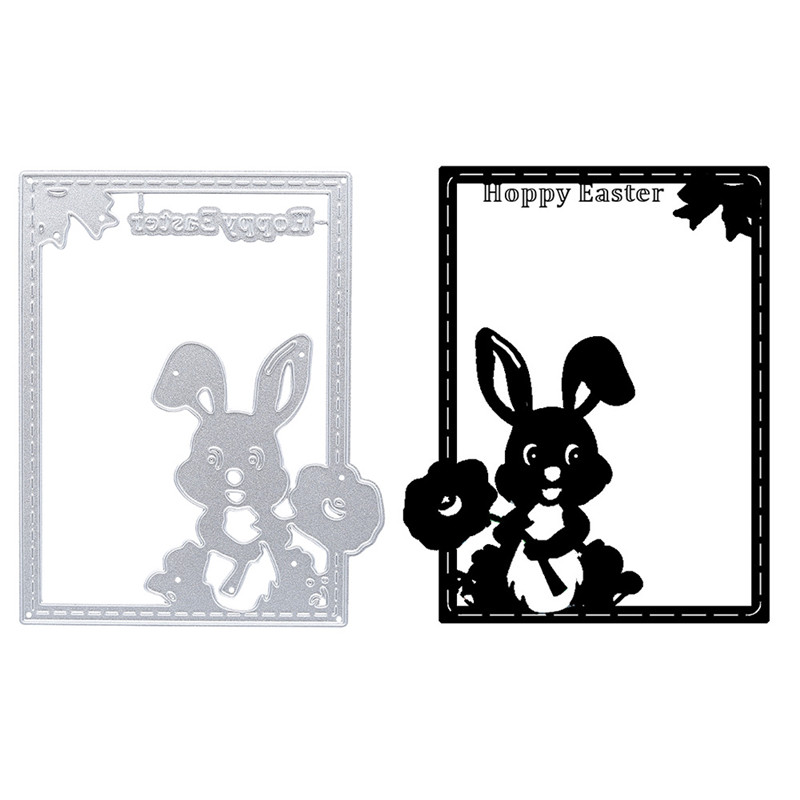 Carbon Steel Bunny Shape Cutting Dies For Album Card Making Paper Craft
