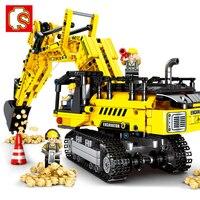 841pcs Excavator Building Blocks Transportation Technic Tipper Car Engineering City Construction Bricks Diy Blocks Toy WJ039 Blocks     -