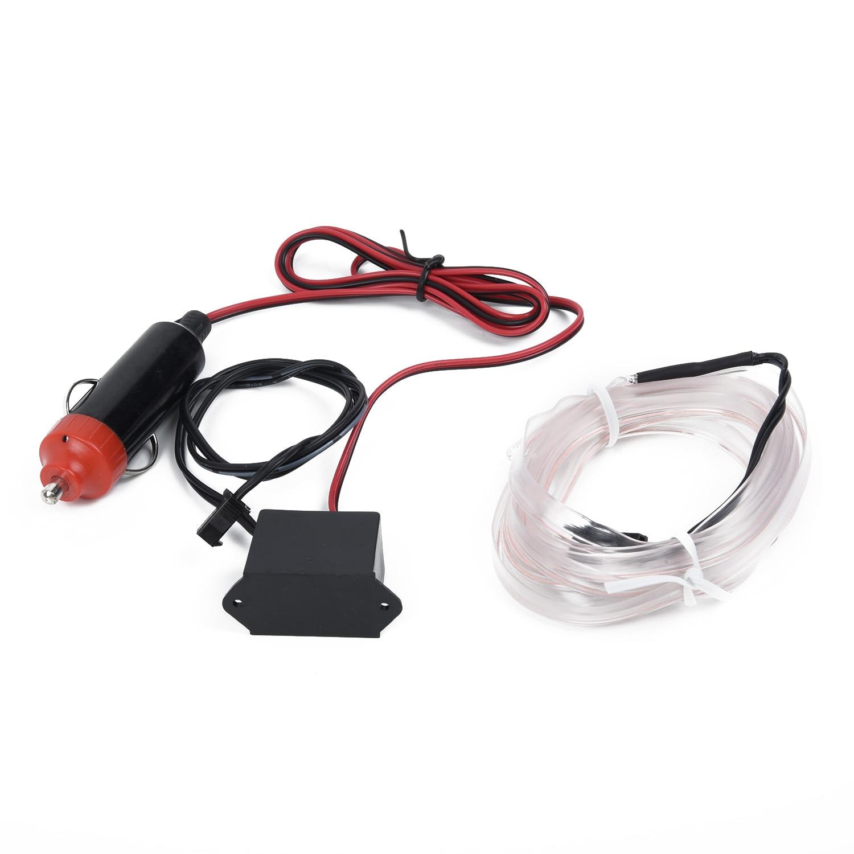 DIY Light Strip Universal Car Optical Fiber LED Interior Atmosphere Lamp White