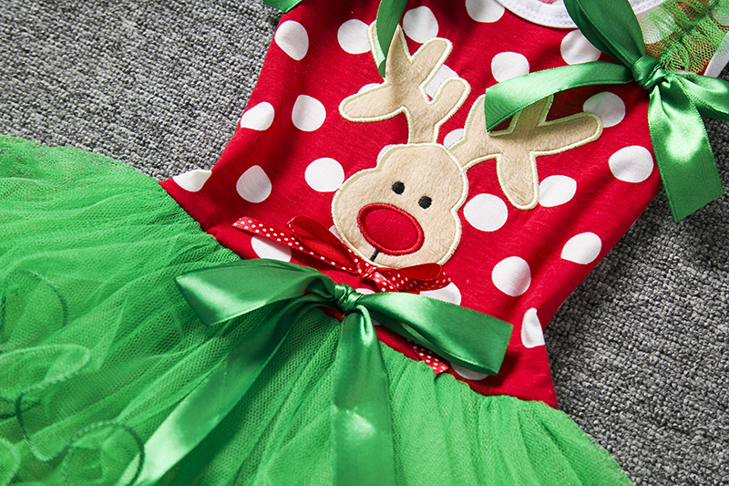 H9d58145b2a7a4c0fad866d3c1c565a42E 2-6T Santa Claus Christmas Dress Kids Party New Year Costume Winter Snowman Baby Girl Clothes Christmas Tree Children Clothing