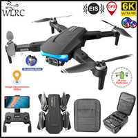 WLRC 2021 nuevo 6K GPS Drone LS-38 5G WIFI HD EIS cámara profesional Anti-shake Motor sin escobillas 1000m de distancia chico juguetes mejor regalo