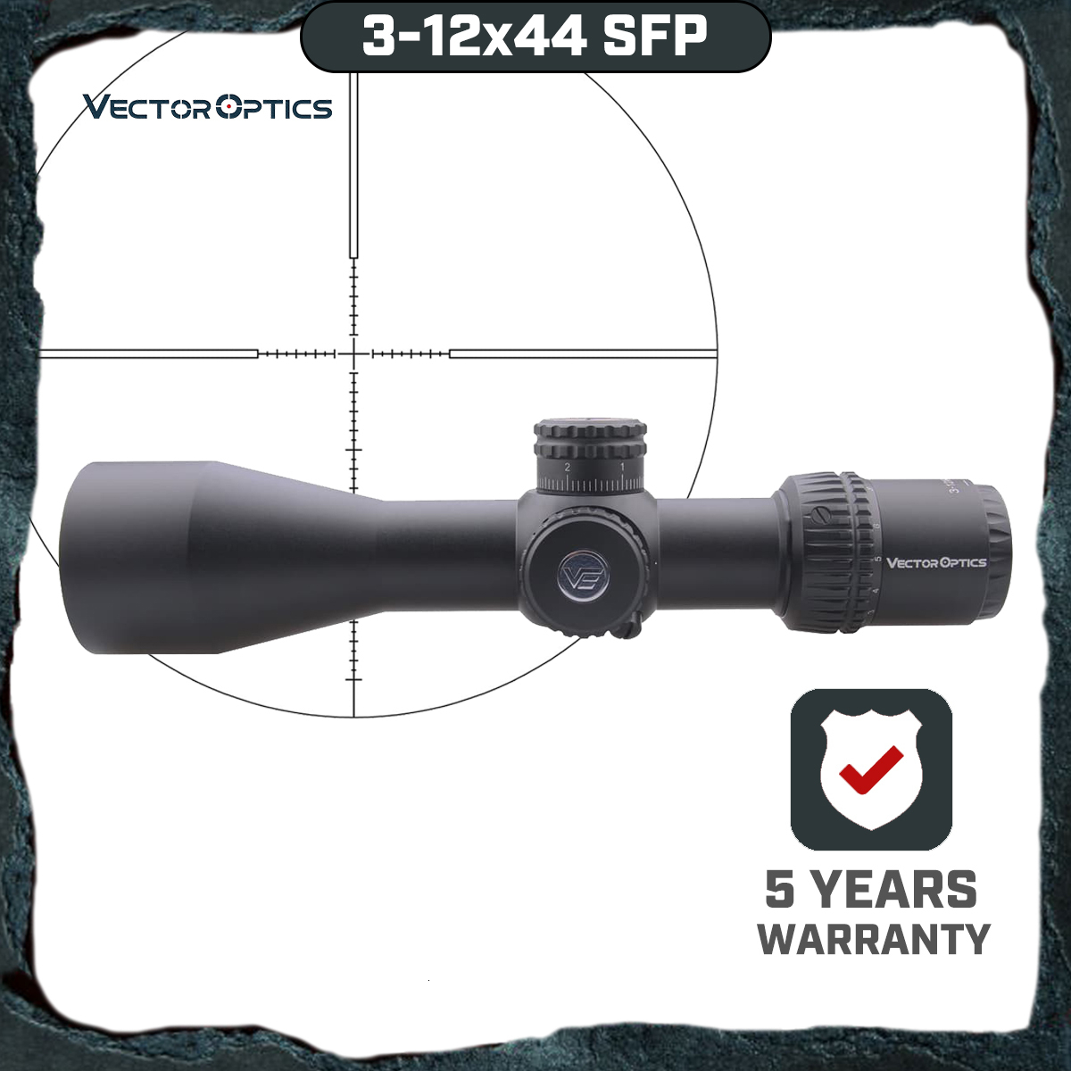 Vector Optics Veyron SFP 3-12x44 Riflescope Ultra Compact Air Rifle Scope Second Focal Plane Air Gun 1/10 MIL AR15 .223 7.62 image