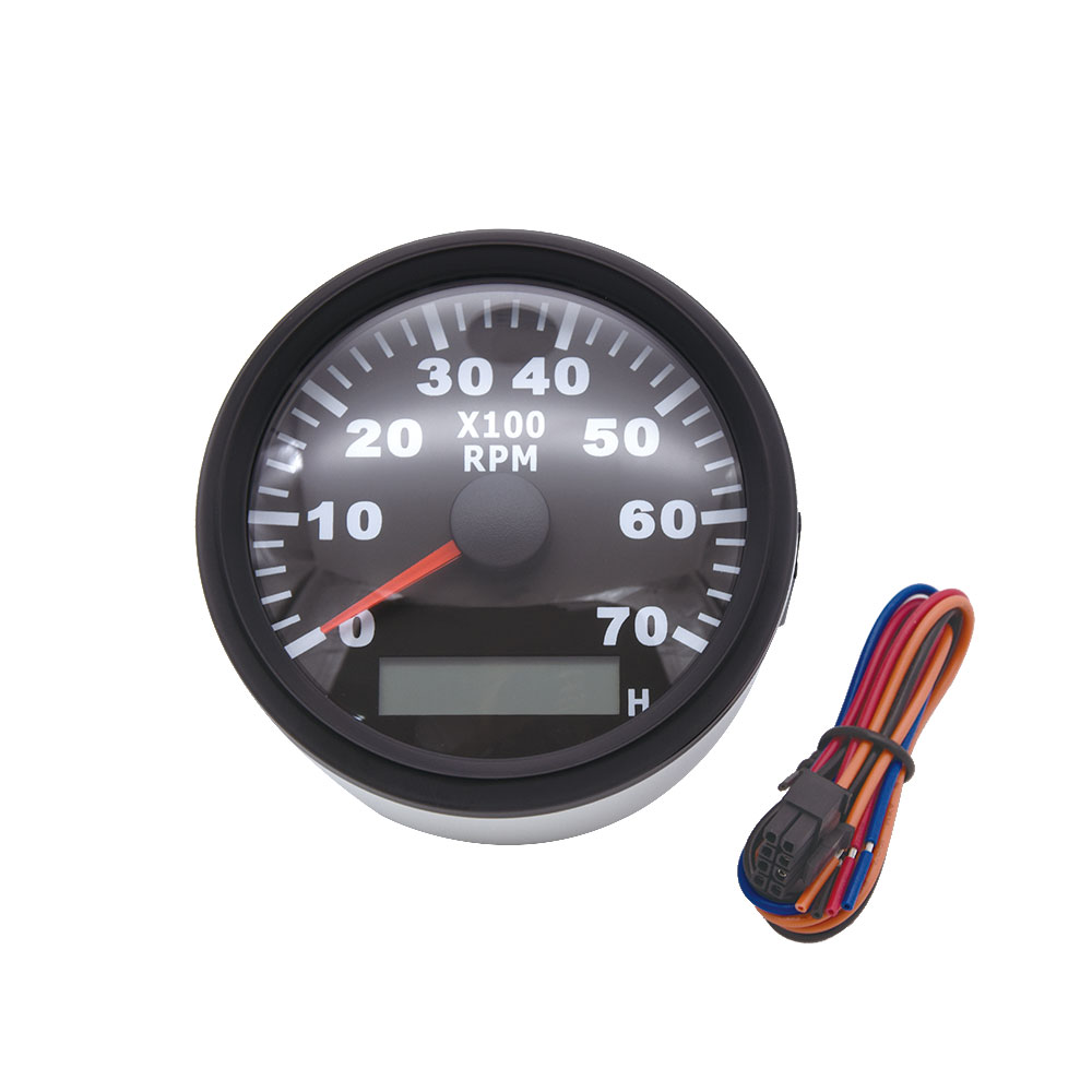 85mm 7000 tr/min tachymètre LED étanche sablier numérique Marine hors-bord moteur Diesel générateur Tacho mètre jauge 9-32V