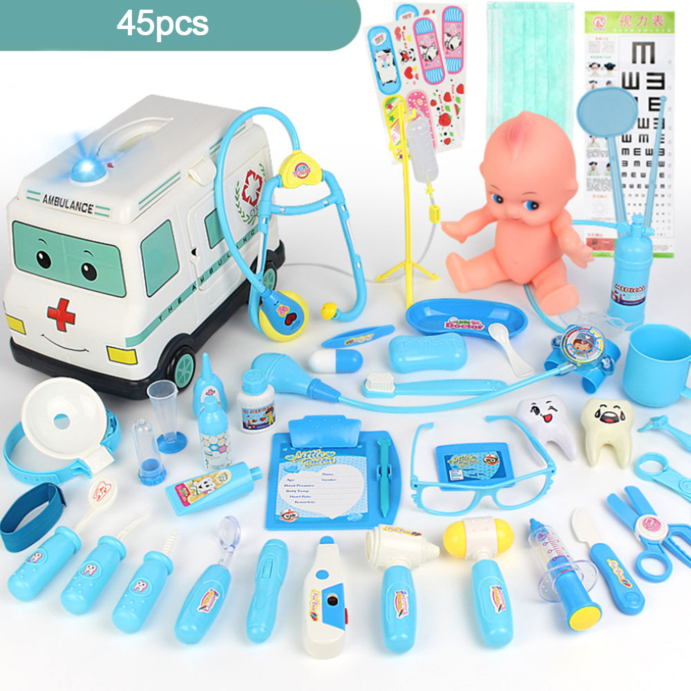 Kids Doctor Kits Pretend Toys Boys Girls Medical Set Doctor Nurse Role Play Game Emulational Toys For Children Girls Play House image