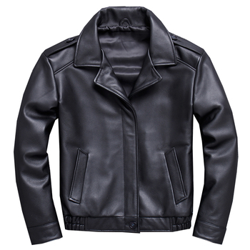 Mens Real Leather Jacket Motorcycle Biker Bomber Coat Men Genuine Jackets Coats Male Black Basic Outerwear Oversize Tops