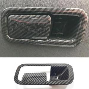 Image 1 - Für Hyundai Kona Encino 2018 2019 ABS Carbon Fibre Zubehör Auto Copilot handschuh Box griff bowl Abdeckung Trim Styling 2 stücke