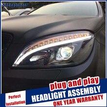 Scheinwerfer Für Benz C Klasse W204 2007 2010 LED/Xenon Abblendlicht Fernlicht LED tagfahrlicht licht sequential blinker 1 paar
