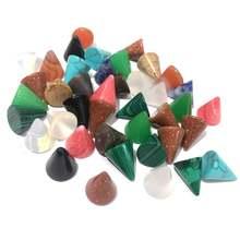 5 шт Натуральный камень Кабошон бусины конический полудрагоценные