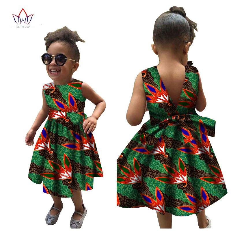 2020 African Women Clothing Kids Dashiki Traditional Cotton Dresses Matching Africa Print Christmas Dresses Children BRW WYT22