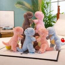 25cm cartoon cute Q version dinosaur plush stuffed toy child comfort doll boy girl birthday Christmas gift WJ262
