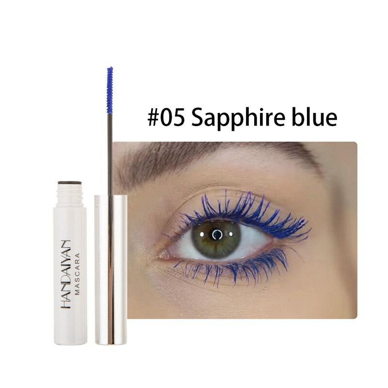 Цветная тушь водостойкие ресницы, Подкручивающая, удлиняющая, густой объем, макияж, ресницы для глаз, быстро сохнут, стойкий макияж для красоты - Цвет: 5