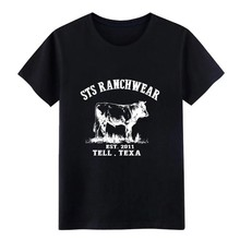 sts ranchwear est 2011 tell texa farm cow t shirt Designing cotton S-XXXL solid color Fitness New Fashion Outfit shirt(China)