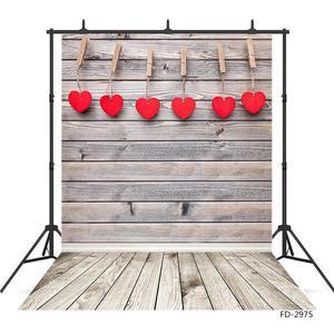 Image 3 - ולנטיין של יום צילום רקע עץ קיר רצפת לב ויניל תפאורות צילום סטודיו לילדים תינוק לחיות מחמד Photoshooting