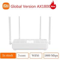 Versione globale Xiaomi Mi Router AX1800 Wi-Fi 6 2.4GHz 5GHz 1800 Mbps Qualcomm 5-Core Chip 4 antenne esterne fino a 128 dispositivi