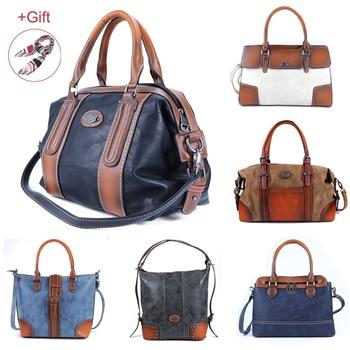 Luxury High Quality Leather Women Handbags Vintage Ladies Shoulder Bags Female Crossbody Bag Large Capacity Travel Casual Tote - discount item  35% OFF Women's Handbags