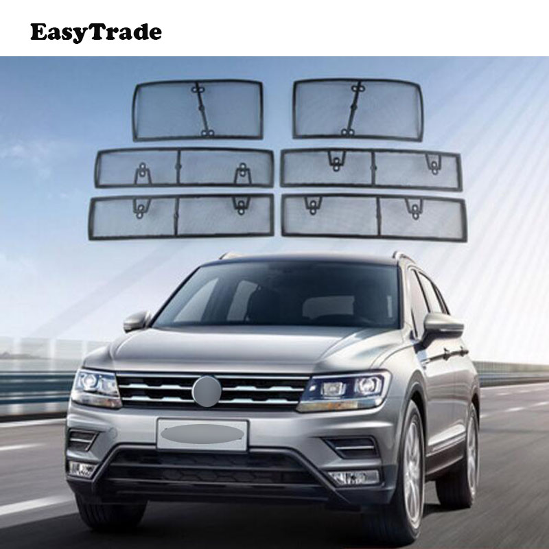 Car Insect Screening Mesh Accessories Front Grille Insert Net For Volkswagen VW Tiguan 2017 2018 2019 Car Styling Accessories