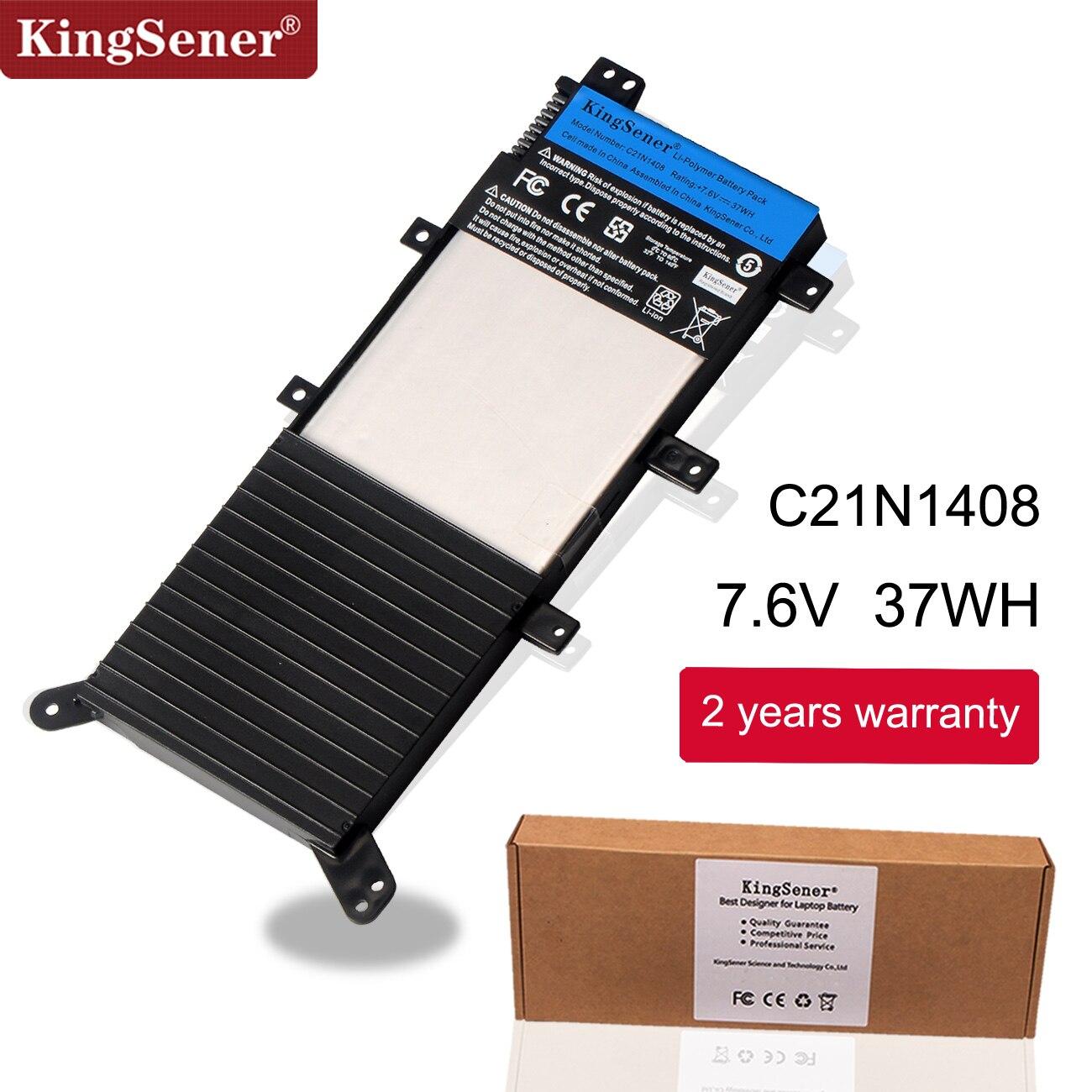 c21n1408 купить - KingSener New C21N1408 Laptop Battery For ASUS VivoBook 4000 MX555 V555L V555LB V555U Series 7.6V 37WH Free 2 Years Warranty