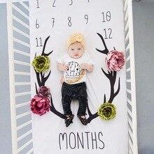Детская простыня Новорожденный Фотография реквизит ежемесячный рост одеяла для заднего фона