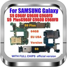 EU Version For Samsung S9 Plus Motherboard G965F /FD G965U G960U G960F FDMainBoard Factory Unlock With Chips IMEI OS Logic Board