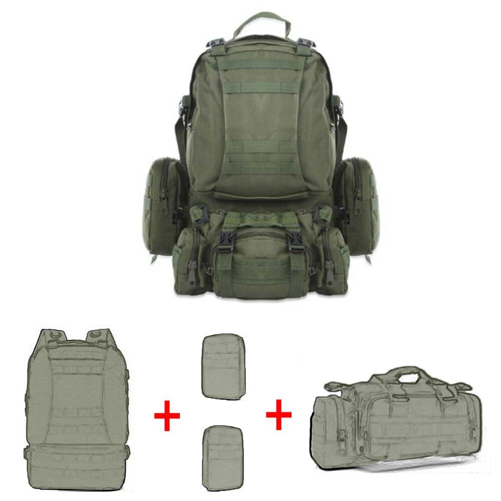 Tactique molle sac à dos militaire 50L grande capacité sac 4 en 1 armée sac à dos sac à dos poche de sport en plein air sac hommes camping randonnée