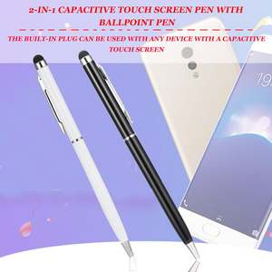 1pcs 2 in 1 Capacitive Touch Screen Stylus with Ball Point Pen for PDA Phone