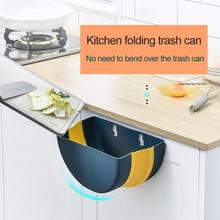 Kitchen Folding Cabinet Door Hanging Trash Can for Kitchen Bathroom Wall Mounted Garbage Wastebasket мусорное ведро мусорное ведро blonder home xhobn015n