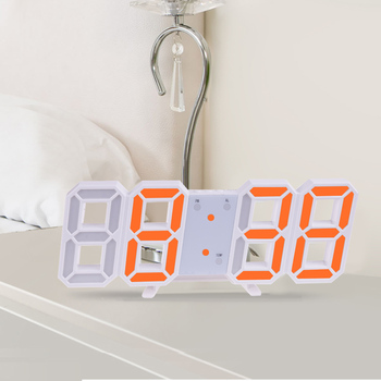 3D Large LED Digital Wall Clock Date Time Celsius Nightlight Display Table Desktop Clocks Alarm Clock From Living Room 7