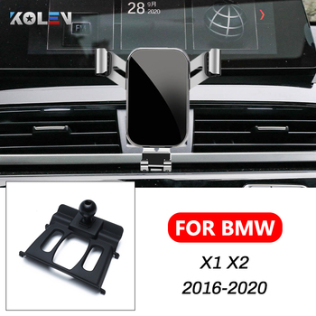 Car Mobile Phone Holder For BMW X1 X2 F47 F48 F39 2016-2020 360 Degree Gravity Stand Car Cell Phone GPS Mount Navigation Bracket image