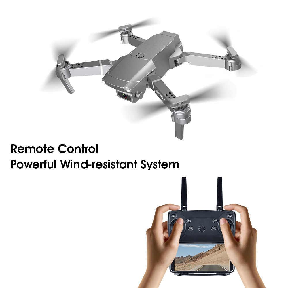 Wifi Camera 2020 New E68 WIFI FPV Mini Drone With Wide Angle HD 4K 1080P Camera Hight Hold Mode RC Foldable Quadcopter Dron Gift