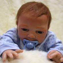 18 Inch Bebes Reborn Boy Doll Full Silicone Vinyl Reborn Baby Dolls Realistic Baby Toy For Children's Day Gifts Alive Lifelike lovely silicone baby dolls with santa claus clothes children christmas gifts brown eyes lifelike alive reborn simulation doll