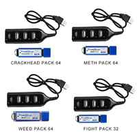 True Blue Mini Crackhead Pack 32G/64G Fight Pack for PlayStation Classic Games Accessories with a mini USB hub