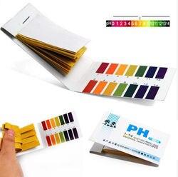 Full Range pH Alkaline Acid 1-14 Litmus Test Paper Strips Tester Indicator PH Partable 80 Strips PH Paper Meters Analyzers