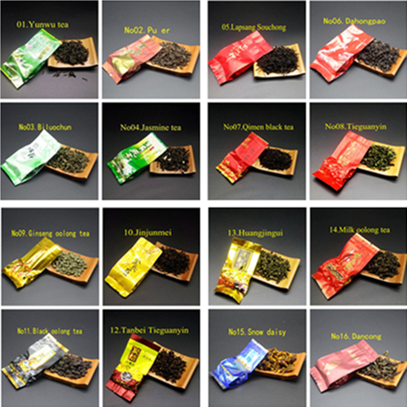 18 Different Flavors Chinese Tea Each tea Two bags Includes Milk Oolong Pu-erh Herbal Flower Black Green Tea 4