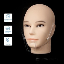Face-Guard Mouth-Cover Transparent Anti-Saliva Restaurant Food Reusable 10pcs for Hotel