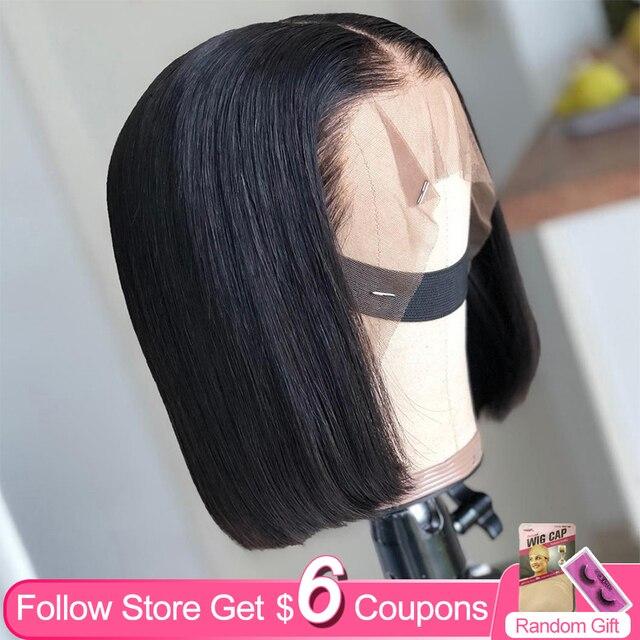 باروكات شعر مستعار من aircab مقاس 8 16 بوصة مصنوعة من الدانتيل عالي الجودة على شكل T للنساء ذوات البشرة السمراء