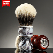 Oumo pincel tinta pintura venus texugo escova de barbear com manchúria/ace/seda/gancho/wt