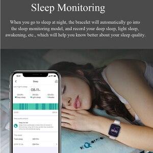 Image 5 - Inteligentny zegarek MKS5 zegarek do Fitness wodoodporny Bluetooth Sport tętno Tracker połączenie/wiadomość z przypomnieniem Smartwatch dla androida iOS
