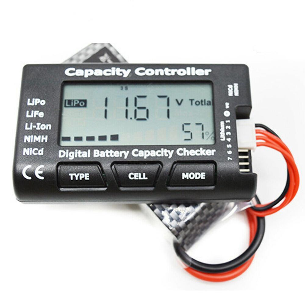 Цифровой тестер напряжения батареи, тестер LiPo LiFe Li-Ion Nicd NiMH батарея тестер напряжения контрольный контроллер емкости