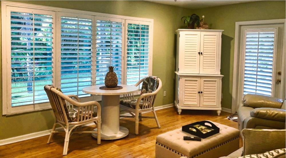 Custom Basswood Plantation Shutters  Wooden Blinds Solid Wood Shutter Louver PS211