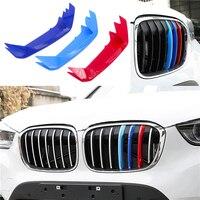 Für BMW X2 F39 3D Auto Styling Kühlergrill Trim Sport Streifen Abdeckung Power Leistung Aufkleber für 2018 BMW X2 f39 Zubehör