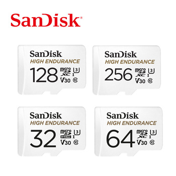 SanDisk Memory Card High Endurance micro SD Card C10 V30 U3 4K 32GB 64GB 128GB 256GB TF Cards for Dash Cam Home Video Monitoring
