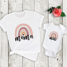 Matching Shirt Outfits Rainbow Family Look Mama And Cute Me 1pcs