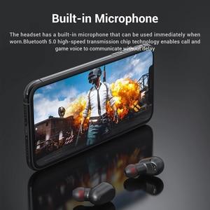Image 2 - TOPK TWS Bluetooth 5,0 Wireless Bluetooth Kopfhörer Kopfhörer Mit Mikrofon Mini Cordless Ohrhörer für Xiaomi für Smart Telefon