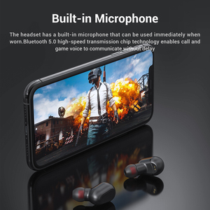 Image 4 - TOPK Wireless headphones TWS Bluetooth v5.0 LED Display Bluetooth Earphone Sports Waterproof earbuds headset Support iOS/Android