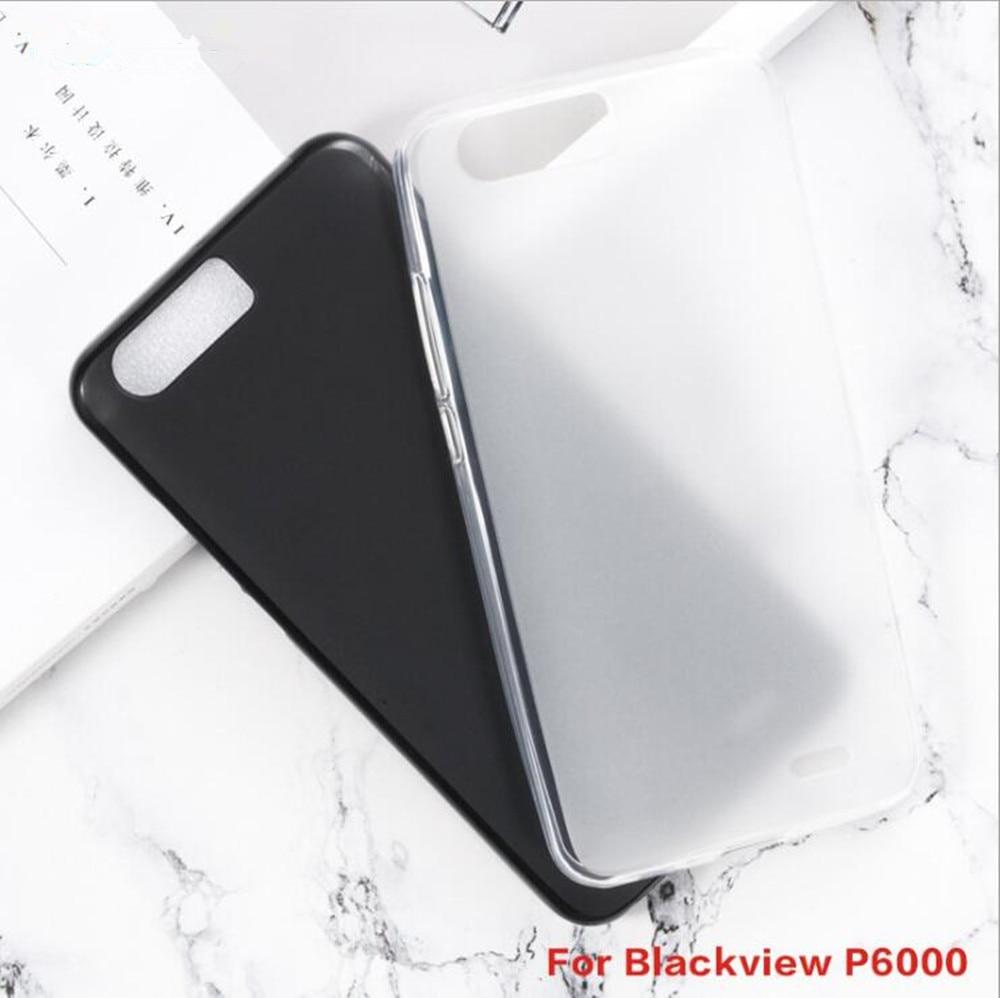 Para blackview p6000 caso anti-knock macio tpu caso para blackview p6000 anti skid silicone proteção capa traseira