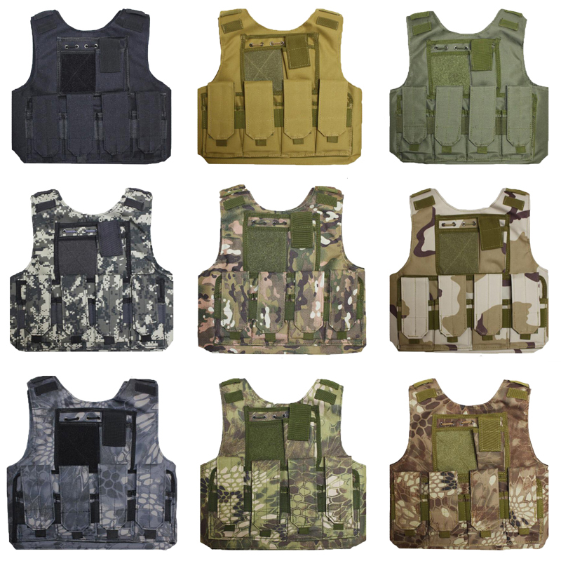 Tactical Military Combat Paintball Airsoft Molle Hunting Training Vest For Kids