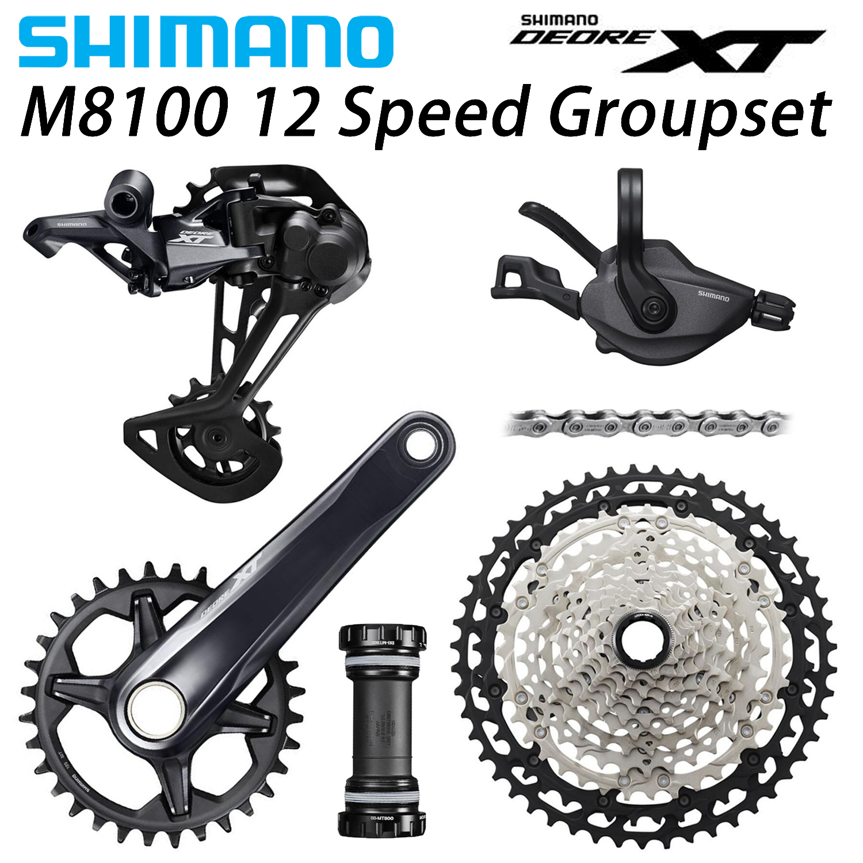Shimnano Deore XT M8100 Groupset 12 Speed Shifter Rear Derailleur Chain Cassette