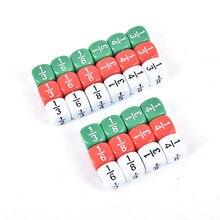 Nova 10 Pçs/set 16*16mm Branco Número Engraçado Dice Fracionário Educação Jogo Acessório