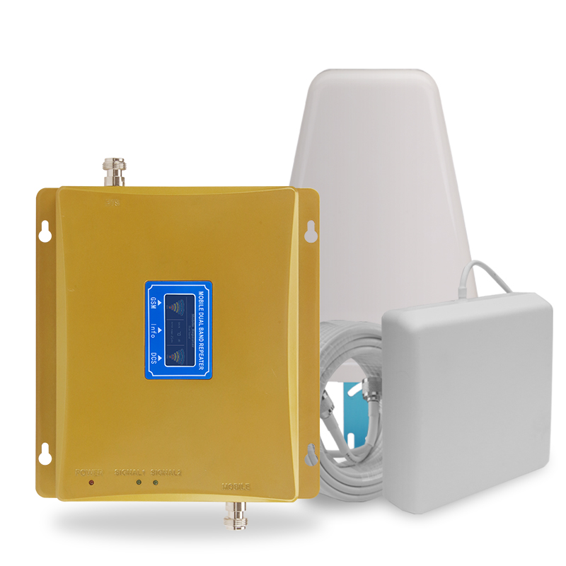 2G 4G Moblie Signal Repeater GSM 900 4G LTE / DCS 1800mhz Dual  Band Cellular Signal Booster 70dB Gain LCD Display 4G AmplifierSignal  Boosters