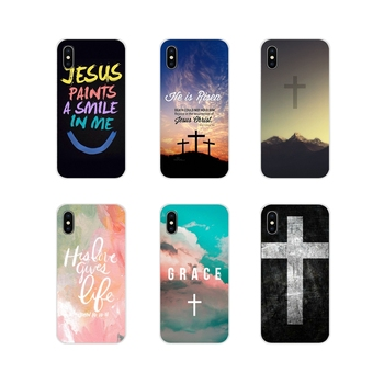 For Samsung Galaxy A3 A5 A7 A9 A8 Star A6 Plus 2018 2015 2016 2017 Biblical scriptures Jesus Christ TPU Transparent Shell Covers image